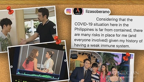"TV Patrol: ""Make It With You"", kinansela dahil sa COVID-19 at sa pangamba sa kalusugan ni Liza Image Thumbnail"