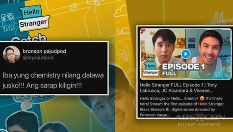 TV Patrol: Pilot episode ng digital series na 'Hello Stranger', pumalo sa higit 1-Million views Image Thumbnail