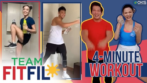 4-Minute Cardiorespiratory Workout with Argel and Bianca | Team FitFil Episode 19 Image Thumbnail