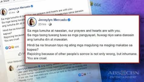 TV Patrol: Jennylyn Mercado, naglabas ng saloobin sa sinapit ng ABS-CBN franchise Image Thumbnail