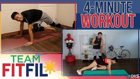 4-Minute Total Body Fat Burning Workout with Argel Saycon | Team FitFil Episode 21 Image Thumbnail