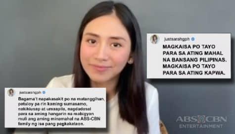 TV Patrol: Sarah Geronimo, nagpakita ng suporta sa ABS-CBN at umaasa na mabigyan ng pagkakataon ang network Image Thumbnail