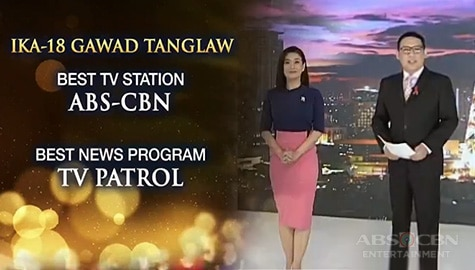 TV Patrol: ABS-CBN, Best TV Station sa ika-18 Gawad Tanglaw Image Thumbnail