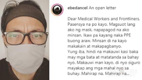 TV Patrol: Ebe Dancel, ipinarating ang kanyang pangamba sa frontliners sa gitna ng laban vs COVID-19 Image Thumbnail