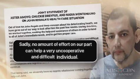 """TV Patrol: John Regala, hindi na tutulungan ng ilang kasamahan sa showbiz dahil sa umano'y """"abusive self-medication"""" Image Thumbnail"""