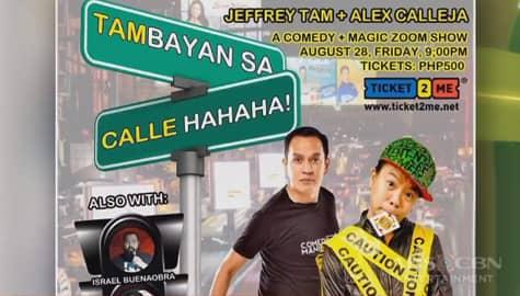 TV Patrol: Alex Calleja, sunod-sunod ang pagbibigay ng good vibes sa online show at comedy workshop Image Thumbnail