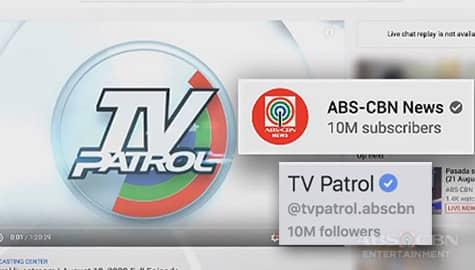TV Patrol, ipinagdiriwang ang Digital Milestone sa Facebook at YouTube Image Thumbnail