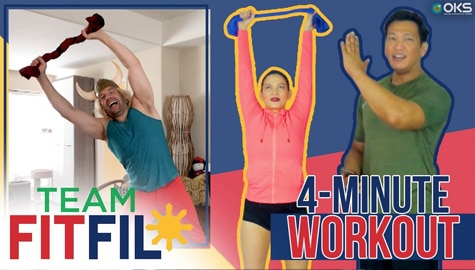 4-Minute Spine Workout with Eric the Trainer from Hollywood | Team FitFil Episode 31 Thumbnail