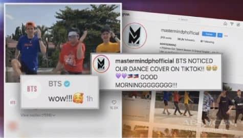 TV Patrol: Pinoy dance group na Mastermind, pinahanga ang K-Pop superstars na BTS sa kanilang 'Dynamite' dance cover Image Thumbnail