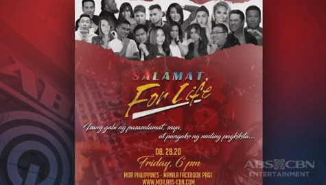 """TV Patrol: MOR, magdaraos ng """"Salamat, For Life"""" farewell special Image Thumbnail"""