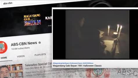 TV Patrol: Classic katatakutan episodes ng Magandang Gabi Bayan, mapapanood sa ABS-CBN YouTube channel Image Thumbnail