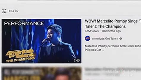 TV Patrol: YouTube: 'AGT' Performance ni Marcelito Pomoy, top trending video para sa mga Pinoy Image Thumbnail
