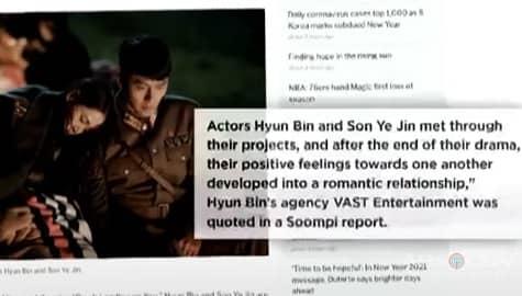 TV Patrol: 'CLOY' stars Hyun Bin at Son Ye Jin, kumpirmadong nagde-date Image Thumbnail