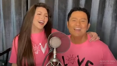 "Regine Velasquez and Ogie Alcasid sing ""Hoy Love You"""