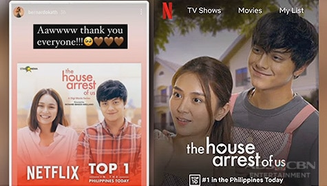 "TV Patrol: ""The House Arrest of Us"" ng KathNiel, no. 1 sa Netflix Philippines Image Thumbnail"