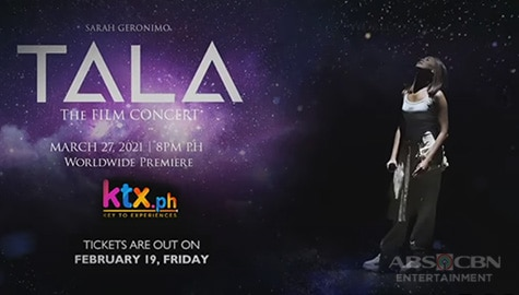 TV Patrol: Sarah Geronimo, may pasabog sa 'Tala the Film Concert' sa KTX.ph Image Thumbnail