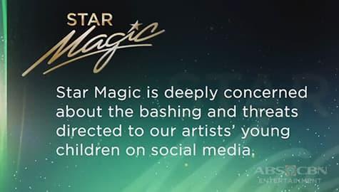 TV Patrol: Star Magic, kinondena ang pamba-bash sa mga anak ng kanilang talents Image Thumbnail