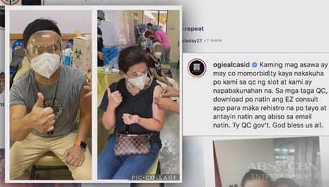 TV Patrol: Mag-asawang Regine at Ogie Alcasid, naturukan na ng COVID vaccine