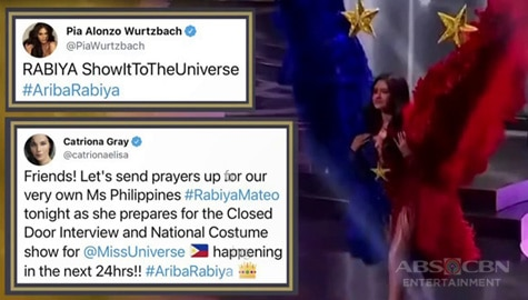 TV Patrol: Rabiya, sinuportahan nina Pia Wurtzbach at Catriona Gray