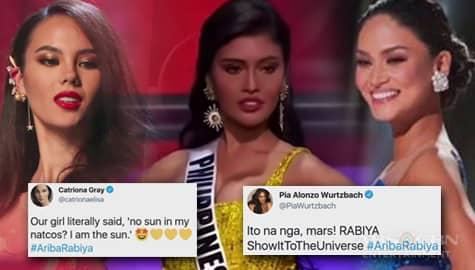 TV Patrol: Miss Universe 2018 Catriona Gray at Miss Universe 2015 Pia Wurtzbach, nagpakita ng suporta kay Rabiya Mateo Image Thumbnail