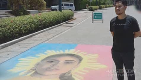TV Patrol: Mukha ni Rabiya, tampok sa street chalk art sa Iloilo Business Park Image Thumbnail