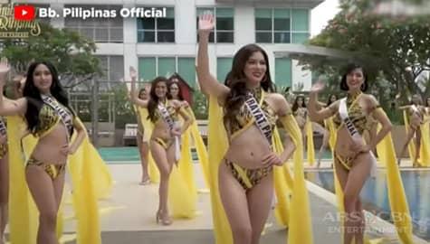 TV Patrol: Bb. Pilipinas candidates, nagpasiklaban sa swimwear preliminary competition