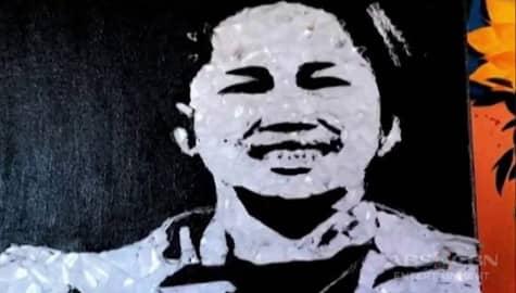 TV Patrol: Pagpupugay kay Hidilyn Diaz, idinaan sa obra gamit ang broken glass mosaic Image Thumbnail