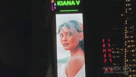 TV Patrol: Kiana Valenciano, bida sa higanteng billboard sa New York City