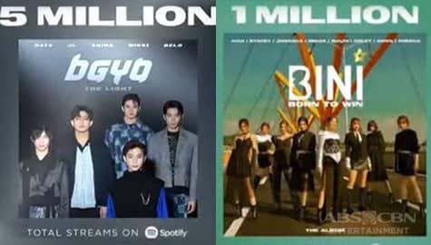 TV Patrol: BGYO at BINI, milyun-milyon na ang streams sa Spotify  Thumbnail