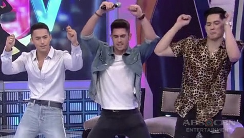 "GGV: Enzo Pineda, Mark Mcmahon and Gab Lagman do the ""Oh Na Na Na"" dance challenge Image Thumbnail"