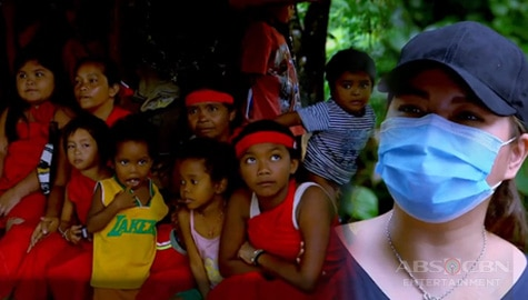 Angel Locsin visits the Dumagat tribe