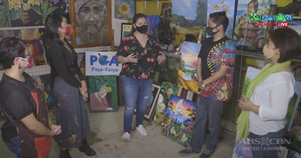 Angel Locsin and Team Iba 'Yan pledge to buy P100,000 worth of artworks from Pasa-Kalye Group of Artists