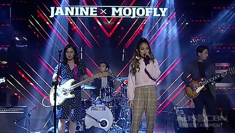 Janine Berdin jams with Mojofly on It's Showtime Image Thumbnail