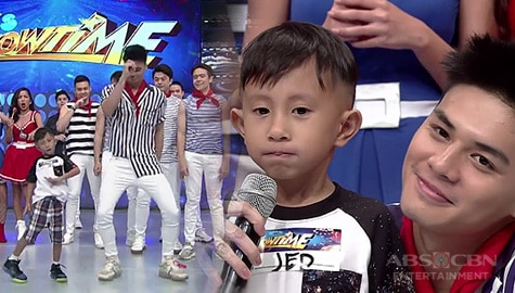 WATCH: Viral kid na si Jed, nakarating sa It's Showtime at nakaharap ang kanyang idol na si Ronnie Alonte! Image Thumbnail
