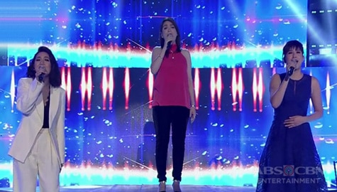 Kyla, Karylle & Jamie perform the hit songs of Vehnee Saturno on It's Showtime Image Thumbnail