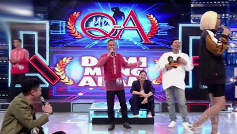 It's Showtime: Vice, Anne, Vhong at Jhong, nag-alisan dahil sa haba ng sagot ni Mr. Q & A candidate Jason Image Thumbnail