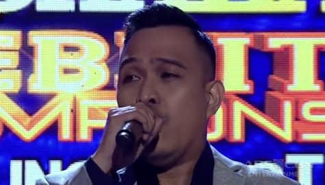 TNT Celebrity Champions Ang Huling Tapatan: Thor Dulay sings Saving All My Love For You Image Thumbnail