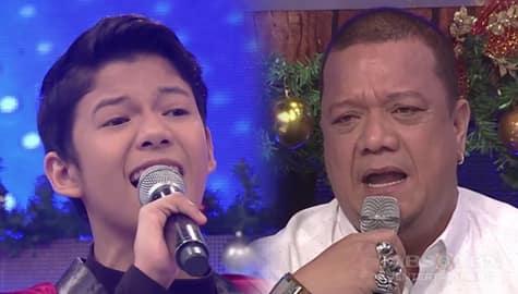 It's Showtime: Justin, masayang naka-duet si Mitoy Image Thumbnail