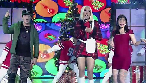 """It's Showtime: Vice, Anne & Kritiko perform theme song for their MMFF film """"The Mall, The Merrier"""" Image Thumbnail"""