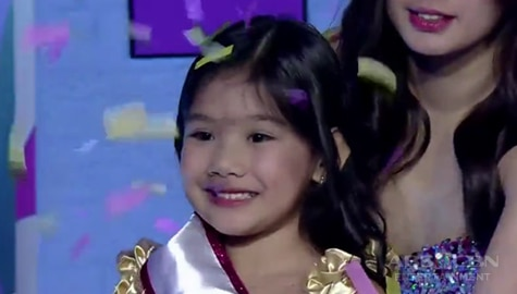 It's Showtime: Chloe Quinto, itinanghal na Mini Miss U of the day Image Thumbnail