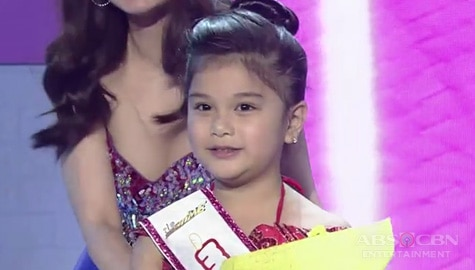 It's Showtime: Bella Espinosa, itinanghal na Mini Miss U of the day Image Thumbnail