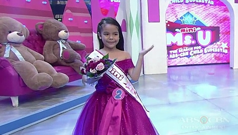 It's Showtime: Bella Ichallalen, itinanghal na Mini Miss U of the day Image Thumbnail