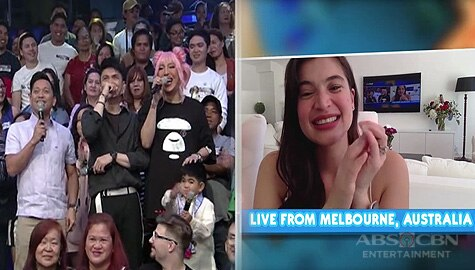 WATCH: Live from Australia! Anne Curtis, kinamusta ang kanyang It's Showtime family! Image Thumbnail