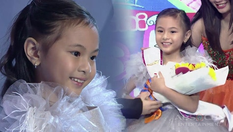 It's Showtime: Jhanzy Angeles, itinanghal na Mini Miss U of the day! Image Thumbnail