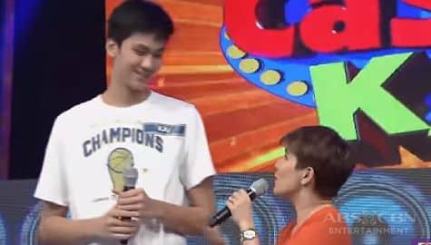 WATCH: Tyang Amy, napatingala nang makita si Kai Sotto sa It's Showtime! Image Thumbnail