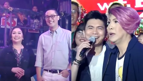 It's Showtime: Vice Ganda, nagulat sa pagbisita nina Cory Vidanes at Carlo Katigbak sa studio