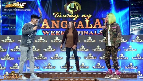 "It's Showtime: Vhong at Vice, natuwa sa paggiling ni TNT weekly finalist ni Rosalie sa awiting ""Body Language"" Image Thumbnail"