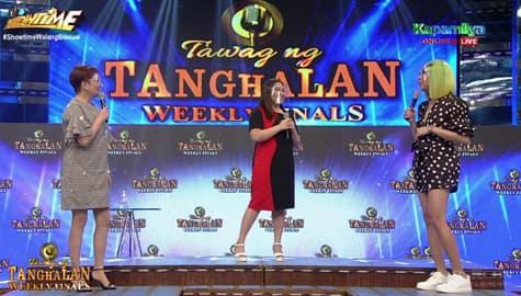 """It's Showtime: Tyang Amy at Vice, na-touch sa version ni TNT contender Patricia ng awiting """"Stay"""" Image Thumbnail"""