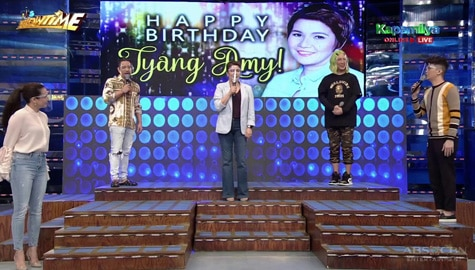 WATCH: It's Showtime family celebrates Tyang Amy's birthday with a fun singing performance Image Thumbnail