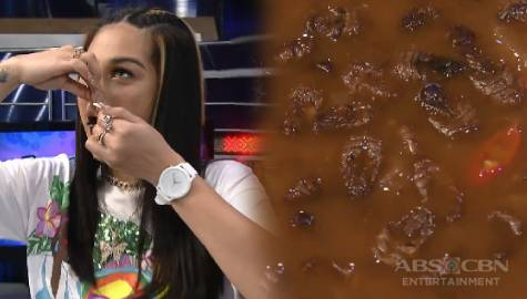 Zeinab, kumain ng Silk Worm! | It's Showtime Image Thumbnail